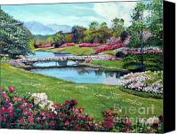 Most Liked Canvas Prints - Spring Flower Park Canvas Print by David Lloyd Glover
