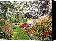 Gardens Canvas Prints - Spring Forest Vision Canvas Print by David Lloyd Glover