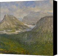 Peaks Canvas Prints - Spring in Glacier National Park Canvas Print by Gary Kaemmer