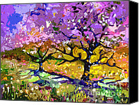 Trees Blossom Canvas Prints - Spring In Provence  Canvas Print by Ginette Fine Art LLC Ginette Callaway