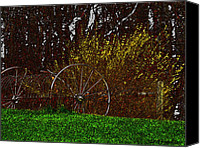 Natures Drawings Canvas Prints - Spring In The Country Canvas Print by Debra     Vatalaro