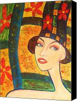 Modigliani Canvas Prints - Spring Is In The Air... Canvas Print by Anastasis  Anastasi