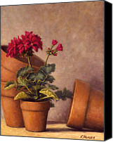Potted Plants Painting Canvas Prints - Spring Planting Canvas Print by Rick Hansen