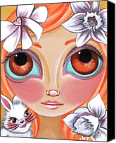 Jasmine Painting Canvas Prints - Spring Princess Canvas Print by Jaz Higgins
