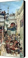 Parade Painting Canvas Prints - Spring Canvas Print by Sir Lawrence Alma-Tadema