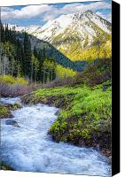 Craggy Canvas Prints - Spring Snow Melt Wasatch Mountains Utah Canvas Print by Utah Images