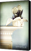 Family Room Canvas Prints - Spring Still Life With White Hyacinth Canvas Print by HD Connelly