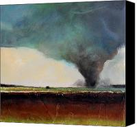 Scary Painting Canvas Prints - Spring Tornado Canvas Print by Toni Grote