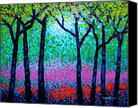 Treescape Canvas Prints - Spring Woodland Canvas Print by John  Nolan