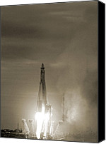 10:7 Canvas Prints - Sputnik 1 Launch Canvas Print by Detlev Van Ravenswaay
