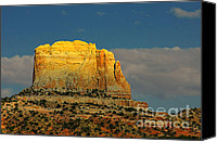 Southwest Canvas Prints - Square Butte - Navajo Nation near Kaibeto AZ Canvas Print by Christine Till