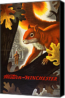 Winchester Canvas Prints - Squirrel Hunting Canvas Print by Weimer Pursell
