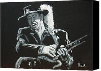 Rock Music Canvas Prints - Srv Canvas Print by Pete Maier