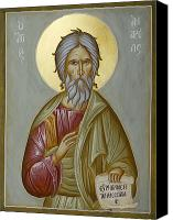 Icon Byzantine Canvas Prints - St Andrew the Apostle and First-Called Canvas Print by Julia Bridget Hayes