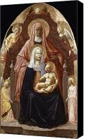 Enthroned Canvas Prints - St. Anne, Madonna & Child Canvas Print by Granger
