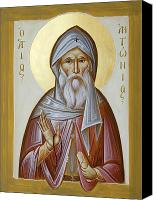 Byzantine Canvas Prints - St Anthony the Great Canvas Print by Julia Bridget Hayes