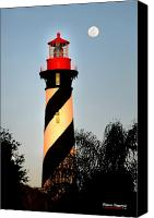 Landmarks Mixed Media Canvas Prints - St. Augustine Lighthouse Canvas Print by Addison Fitzgerald