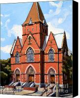 Old Buildings Canvas Prints - St. Augustines Church Canvas Print by Deb Putnam