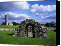 Monasticism Canvas Prints - St Brigids Church, Inis Cealtra Holy Canvas Print by The Irish Image Collection