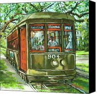 Trolley Canvas Prints - St. Charles No. 904 Canvas Print by Dianne Parks