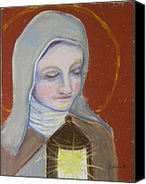 Assisi Canvas Prints - St. Clare of Assisi II Canvas Print by Susan  Clark