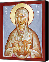 Icon Byzantine Canvas Prints - St Elizabeth Canvas Print by Julia Bridget Hayes