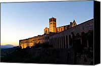 Assisi Canvas Prints - St Francis Assisi at Sundown Canvas Print by Jon Berghoff