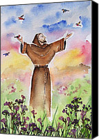 Botanicals Canvas Prints - St Francis of Assisi Canvas Print by Regina Ammerman
