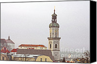 Bavarian Canvas Prints - St. George in Snow - Freising Bavaria Germany Canvas Print by Christine Till