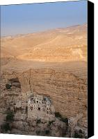 St George Canvas Prints - St. Georges Monastery Canvas Print by Noam Armonn