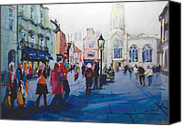 Uk Canvas Prints - St Helen Square York Canvas Print by Neil McBride
