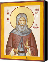 Kodiak Canvas Prints - St Herman of Alaska Canvas Print by Julia Bridget Hayes