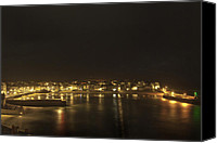 Street Special Promotions - St. Ives By Night Canvas Print by Kieran Brimson