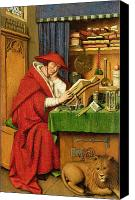 Library Painting Canvas Prints - St. Jerome in his Study  Canvas Print by Jan van Eyck