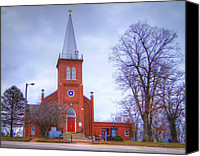 Schubert Canvas Prints - St. Johns Lutheran Church Canvas Print by Cricket Hackmann