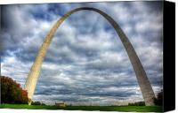 Saint Louis Canvas Prints - St. Louis Arch Canvas Print by Shawn Everhart