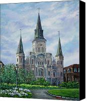 Catholic Church Canvas Prints - St. Louis Cathedral Canvas Print by Dianne Parks