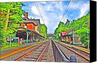 Chestnut Hill Canvas Prints - St. Martins Train Station Canvas Print by Bill Cannon