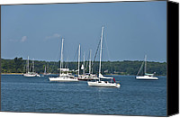 Boats Canvas Prints - St. Marys River Canvas Print by Bill Cannon