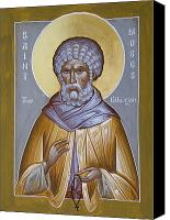 Icon Byzantine Canvas Prints - St Moses the Ethiopian Canvas Print by Julia Bridget Hayes