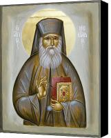 Byzantine Canvas Prints - St Nektarios of Aigina Canvas Print by Julia Bridget Hayes