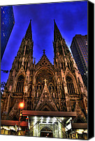 Catholic Church Canvas Prints - St. Patricks Cathedral Canvas Print by Randy Aveille