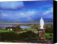 Mountain Sculpture Photo Canvas Prints - St Patricks Statue, Co Mayo, Ireland Canvas Print by The Irish Image Collection 