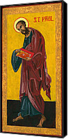Egg Tempera Painting Canvas Prints - St Paul Canvas Print by Jennifer Richard-Morrow