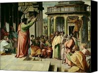 Ancient Greece Painting Canvas Prints - St. Paul Preaching at Athens  Canvas Print by Raphael