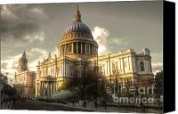 Christopher Wren Canvas Prints - St Pauls Cathedral Canvas Print by Rob Hawkins