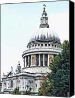 Wren Digital Art Canvas Prints - St Pauls Cathedral  Canvas Print by Steve Taylor