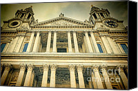 Christopher Wren Canvas Prints - St Pauls Standing Canvas Print by Joan Carroll