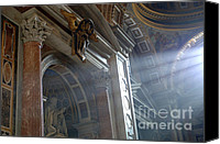 Michaelangelo Canvas Prints - St Peters Light Canvas Print by Bob Christopher