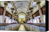 Christian Sacred Canvas Prints - St. Phillip Pews Canvas Print by Drew Castelhano